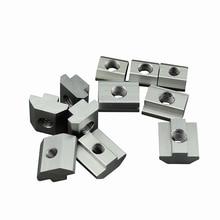 T Block square nuts M3 M4 M5 M6 M8 Slot t nut Sliding hammer nut for 2020 3030 cnc router machine Aluminum profile fasten nuts