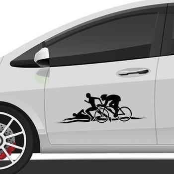 Creative Triathlon Car  Sticker 1