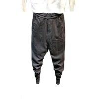 2020 мужские хип-хоп комбинезоны с несколькими карманами, одноцветные шаровары, уличные спортивные штаны, мужские повседневные модные брюки-...