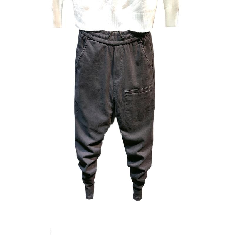 2020 Men Hip Pop Overalls Multi-pocket Solid Harem Trousers Streetwear Sweatpants Hombre Men Casual Fashion Cargo Pants Joggers