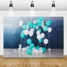 خلفيات عيد ميلاد Laeacco لخلفيات التصوير بالونات استحمام الطفل Photophone الأطفال حديثي الولادة التصوير الفوتوغرافي استوديو الصور