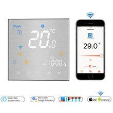 WiFi di Temperatura del Termostato Intelligente Remoto/Controllo Vocale Controller per Acqua/Riscaldamento a pavimento Elettrico di Acqua/Caldaia A Gas Alexa tuya