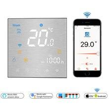 WiFi inteligentny termostat temperatura pilot/sterowanie głosem kontroler do wody/elektryczne ogrzewanie podłogowe woda/kocioł gazowy Alexa Tuya