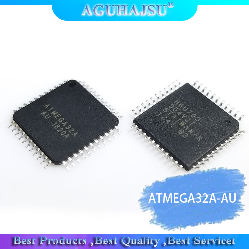 2 PCS IC ATmega32A-AU ATmega32A MCU 8BIT TQFP44