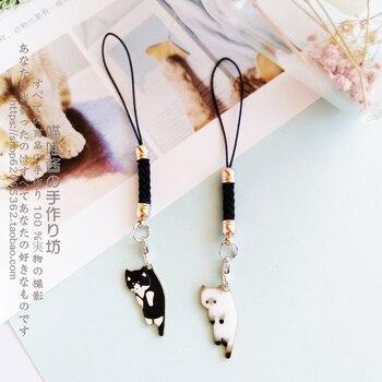Cute Cat Girls Smart Phone Strap Lanyards for IPhone/Samsung/Xiaomi/Huawei Mobile Phone Strap Key Hang Rope Phone Charm Decor 1