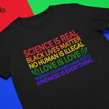 Science is Real # BLM LGBTQ + доброту, права человека и женщин, футболки качества премиум