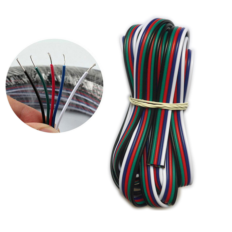 5 ~ 100 метров 2pin 3pin 4pin 5Pin 6pin 22 AWG Удлинитель электрический провод светодиодный разъем для 5050 3528 RGBW RGB CCT светодиодный Stirp