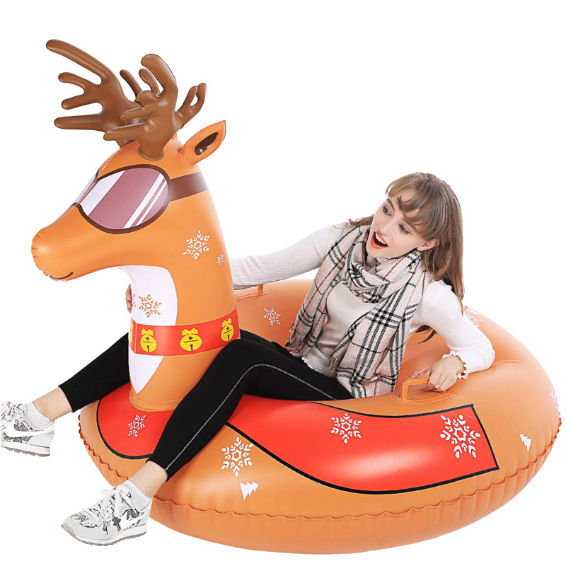2020 Newest Snow Tube Super Big ELK Inflatable Snow Sled For Kids Adult Double Layer Bottom Strengthened Handles Sledding Tube