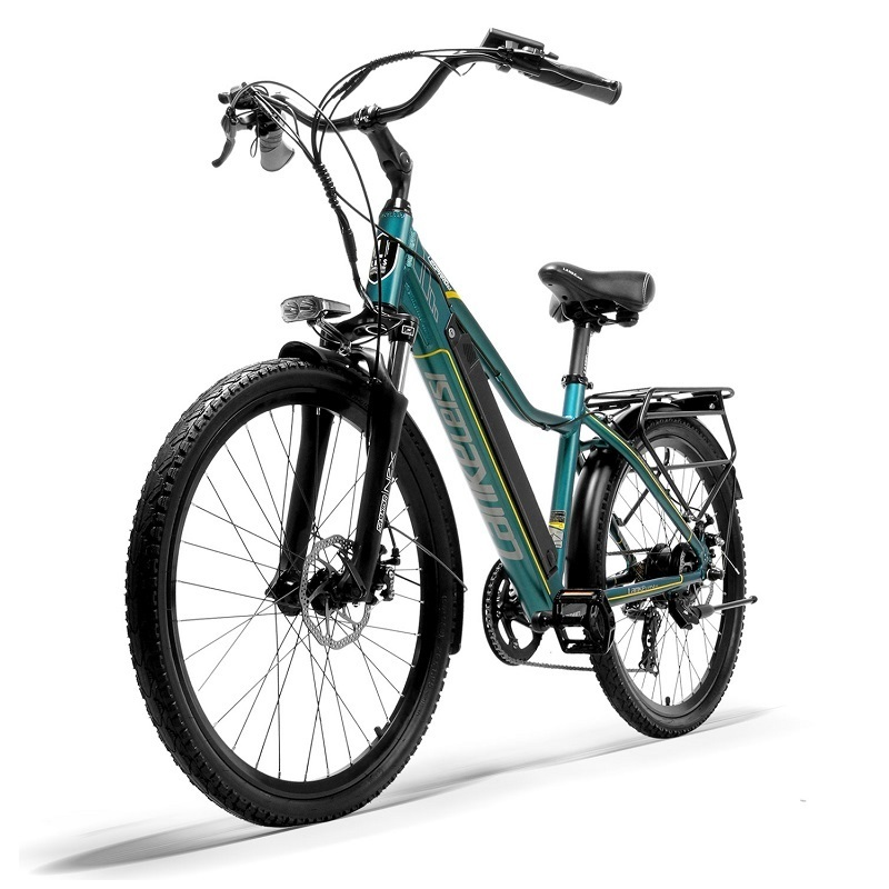 """EU Quality LANKELEISI 26"""" City Bike with PAS Electric Bicycle with 36V 18AH L G Lithium Battery 2"""