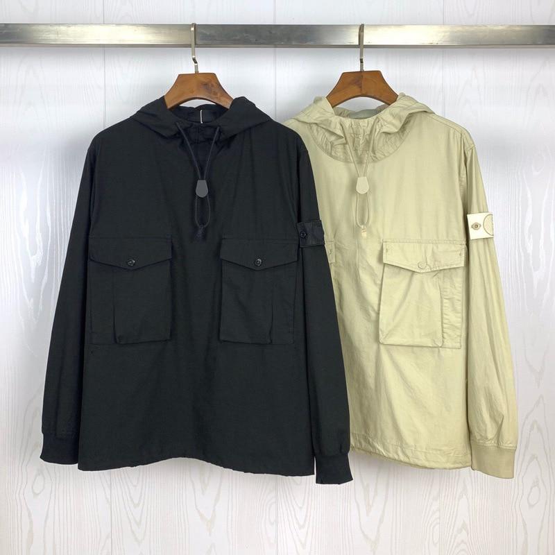 2020ss Compass Logo Badge Designer Ghost Collection Women Men Hooded Jacket Windbreaker Packets Men Casual Jackets Coat