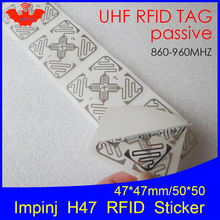 Impinj H47 UHF RFID wet inlay 860-960MHZ Monza4 915M EPC C1G2 ISO18000-6C (can be used to RFID tag and RFID label) H47 desktop usb uhf gen2 rfid support iso18000 6b iso18000 6c epc c1g2 protocol card free shipping free sample card