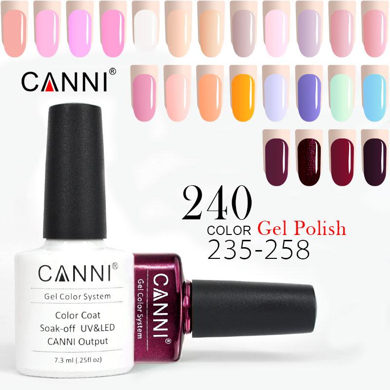 УФ Гель-лак CANNI 7,3 мл французского цвета 215-258 Блестящий жемчужный Блестящий Сияющий Блестящий Светодиодный УФ-лампа для ногтей