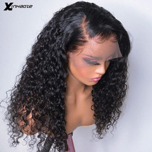 Pelucas de cabello humano rizado con parte Frontal de encaje para mujer, cabello Remy peruano con rizos profundos, prearrancados, 13x6, 360