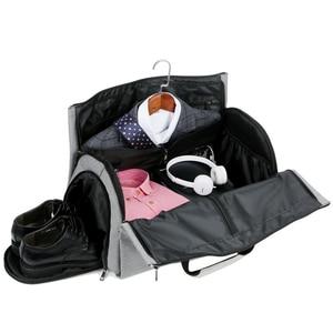 Image 1 - Men Large Travel Bags Foldable Duffle Bag Business Weekend Bags Oxford Suit Protect Cover Women Travel Bag Organizer Handbags
