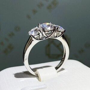 Чистое 18K кольцо из белого золота VVS1 отличное круглое кольцо Специальный стиль moissanite ювелирные изделия годовщина помолвки подарок