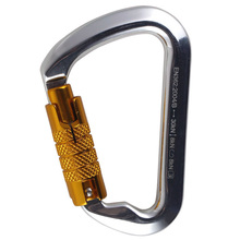 TOP!-Outdoor Rock Climbing 30Kn Connector Lock Pear-Shape Screw Gates Buckle Carabiner Survive