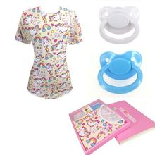 Women's jumpsuit abdl pure cotton bebe slim-fit pajamas jumpsuit Ddlg adult baby sexy Onesie girl clothes and adult pacifier set