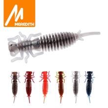 MEREDITH Larva 10 adet/grup 50mm 0.9g yusufçuk yumuşak balıkçılık solucan Lures jig cazibesi balıkçılık yemler yapay takımları Lures