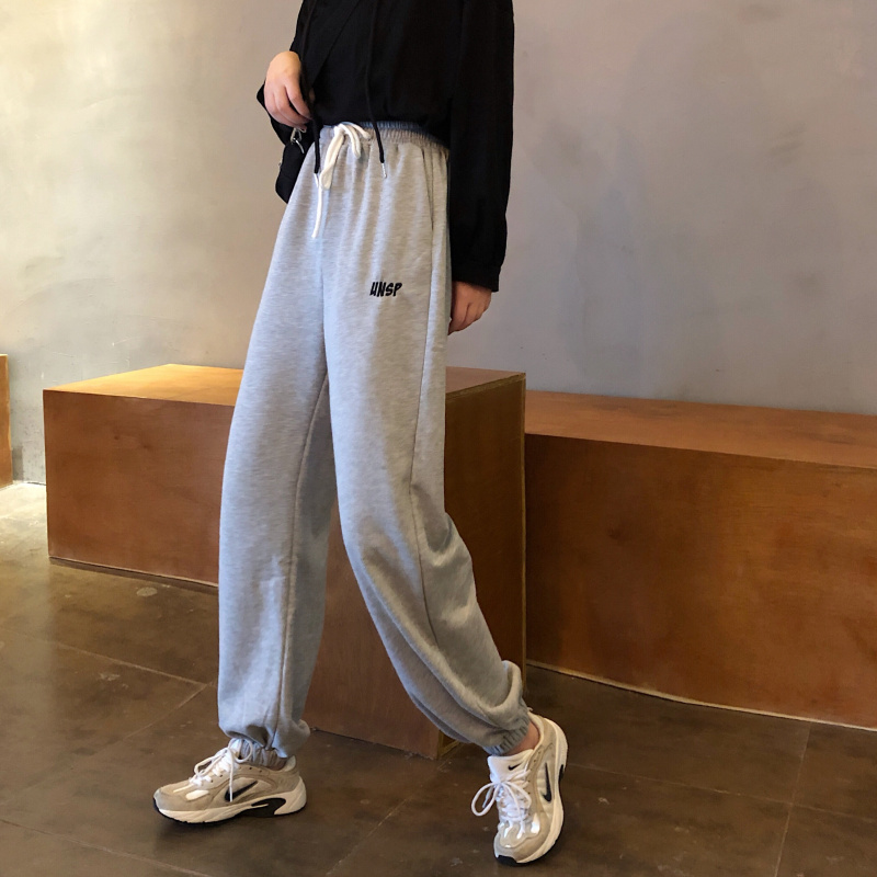 Autumn Women's Trousers Japanese Kawaii Harajuku Ulzzang Loose Beam High Waist Casual Pants Female Cute Clothing For Women