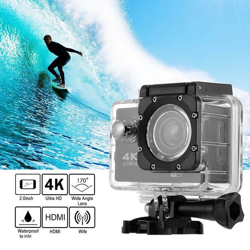 Deals  4K HD Wifi Action Camera Sports Camera 1080P 16Mp Helmet Cam Waterproof Diving Camera Recording Dv