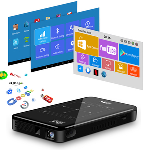 Image 3 - 새로운 휴대용 미니 프로젝터, 안드로이드 6.0 블루투스, 4100 미리 암 페르 하우어 배터리, 게임 모바일 포켓 프로젝터 프로젝터 비머