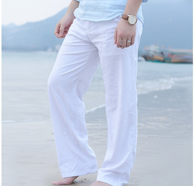 Men Linen Trousers Spring And Summer Men Cotton Linen Trousers Loose Casual Pants Flax Pants Straight-leg Pants