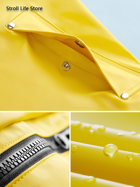 Yellow Women Long Rain Coat Men's Waterproof Raincoat Outdoor Rain Poncho Hiking Adult Rain Jacket Windbreaker Impermeable Gift 4