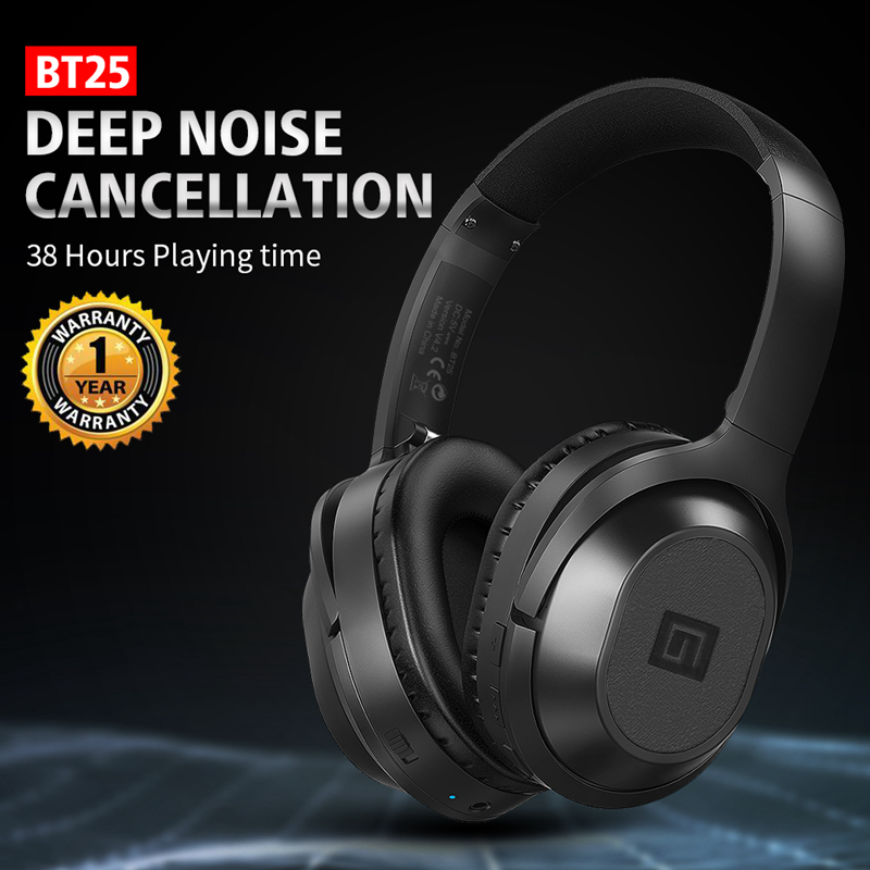 Langsdom BT25 Active Noise Canceling Headphones Wireless Bluetooth 38 Hours Play ANC Bluetooth Gaming Headset for PUBG Overwatch-in Phone Earphones & Headphones from Consumer Electronics