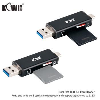 Kiwi przenośny czytnik kart pamięci USB 3 0 dla SDXC SDHC SD MMC RS-MMC Micro SD TF Micro SDXC Micro SDHC UHS-I na komputerze tanie i dobre opinie USB 3 0 Memory Card Reader USB 3 0 and Type-C USB 3 0 USB 3 0 Card Reader x 1 73x19x10mm High speed data transfer plug and play design