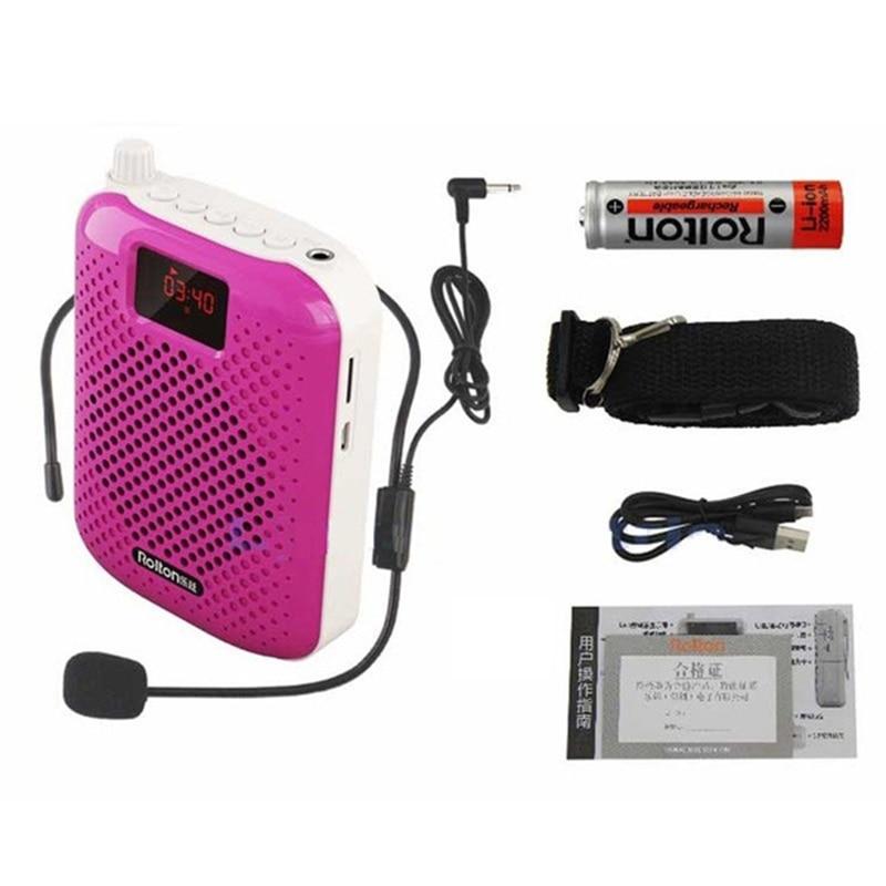 1PCS Megaphone Portable Voice Amplifier Teacher Microphone Speaker 5W FM Recording With Mp3 Player FM Adjustable Radio Recorder