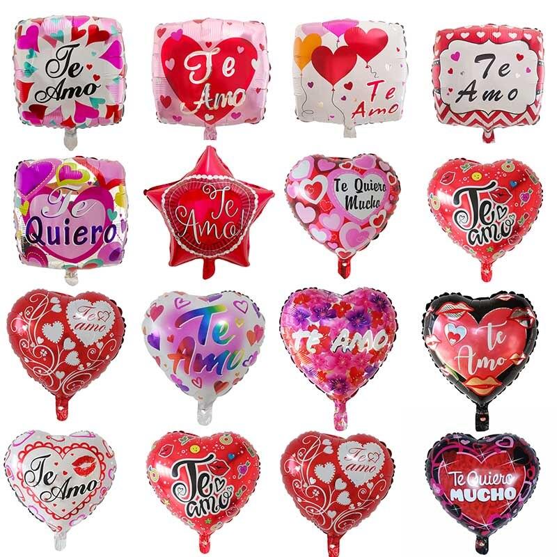 Воздушные шары из фольги Mylar, 50 шт./лот, 18 дюймов, для испанской невесты и жениха