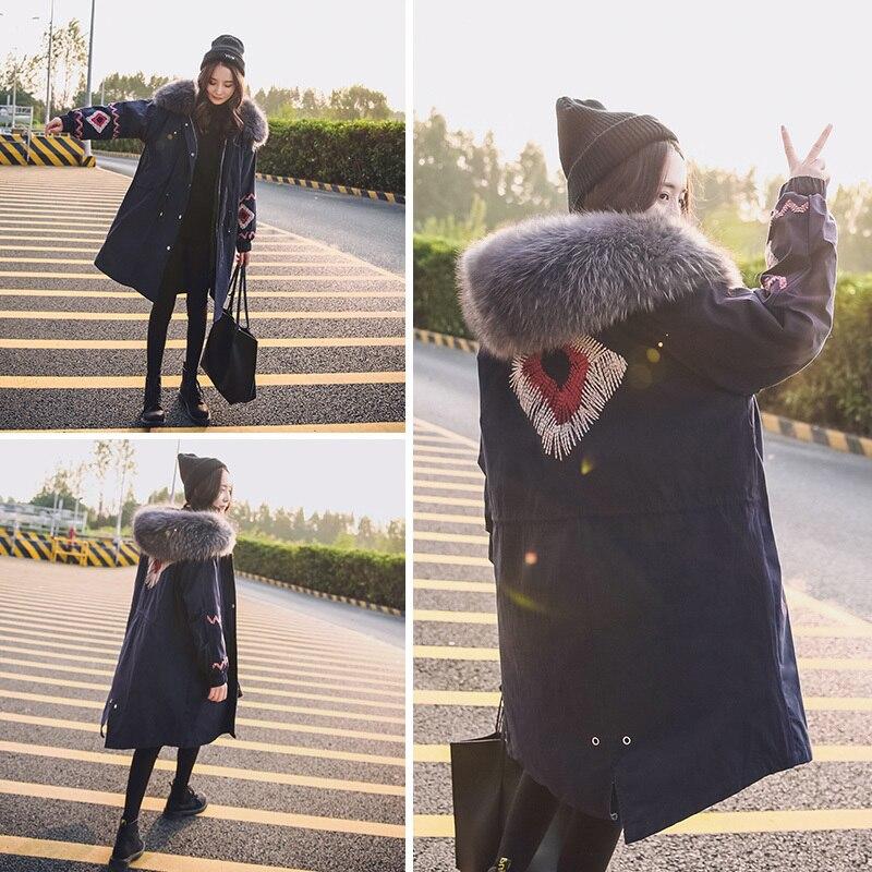 Women's Down Jacket Woman Hooded Long Winter Coat Women Korean Loose Thick Warm Parka Jackets Camperas Mujer KJ443