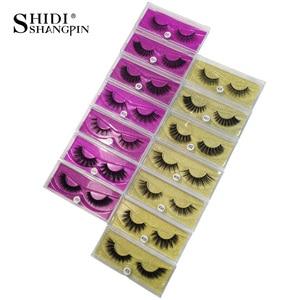Image 1 - SHIDISHANGPIN 1 çift vizon kirpik yanlış eyelashes 3d yanlış lashes 3d vizon kirpikleri yanlış lashes vizon 3d lashes sahte cils