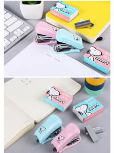 Stapler-Set Paper-Clip Book-Sewer Binder School-Supplies Staionery Office Snoopy Mini