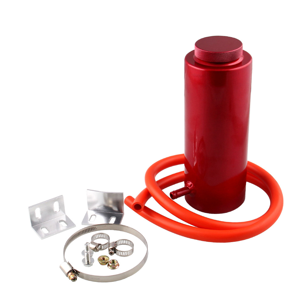 800ml Car Radiator Coolant Tank with Cooling Hose Adaptor Universal Car Radiator Coolant Aluminum Catch Tank Overflow Reservoir in Water Pumps from Automobiles Motorcycles