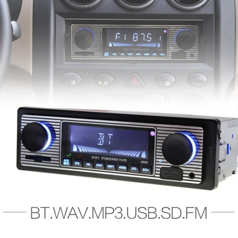 Car Multimedia Digital FM Stereo  Radio  Player Bluetooth Support USB SD MMC Card Reader MP3 AUX WMA  WAV Radio Car Radio Player