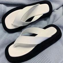 Thick Bottom Color Matching Flip Flops 2020 Summer New All-Match Non-Slip Beach Sandals Women