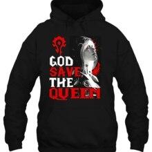 Мужская толстовка Бог сохранить королева Орда WOW версия женская уличная одежда