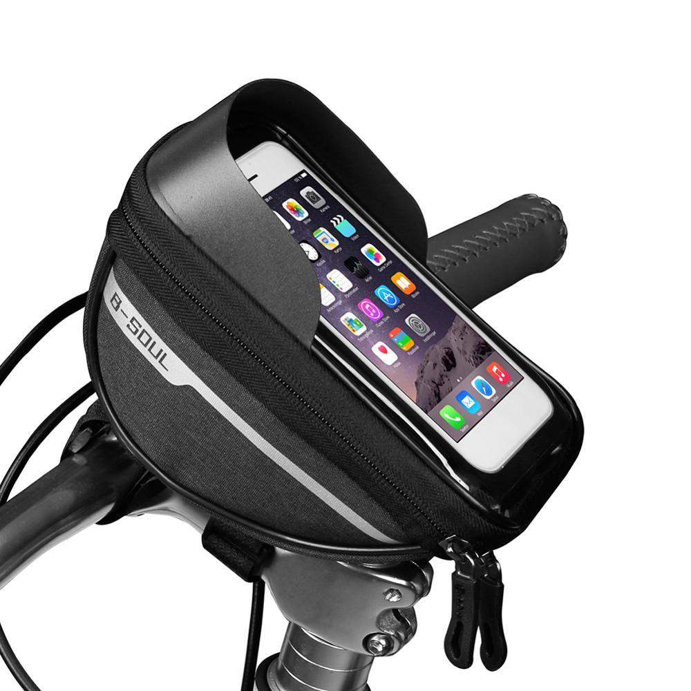 Écran tactile étanche support de téléphone portable Pannier large champ dapplication pratique économie vtt cadre de vélo sacs avant