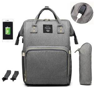 Image 4 - 기저귀 배낭 가방 엄마 대용량 가방 엄마 베이비 다기능 방수 야외 여행 기저귀 가방 베이비 케어