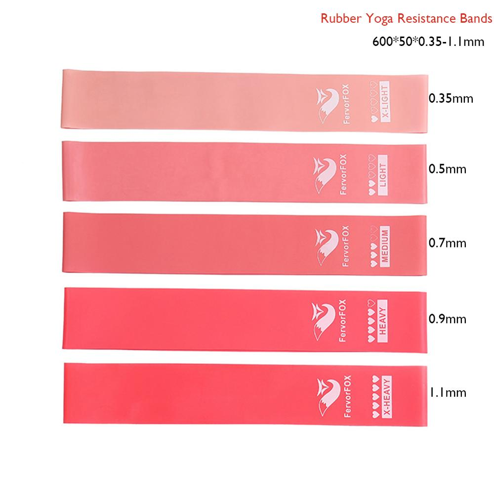 0.35mm To 1.1mm Training Fitness Gum Exercise Gym Strength Resistance Bands Pilates Sport Rubber Fitness Bands Workout Equipment