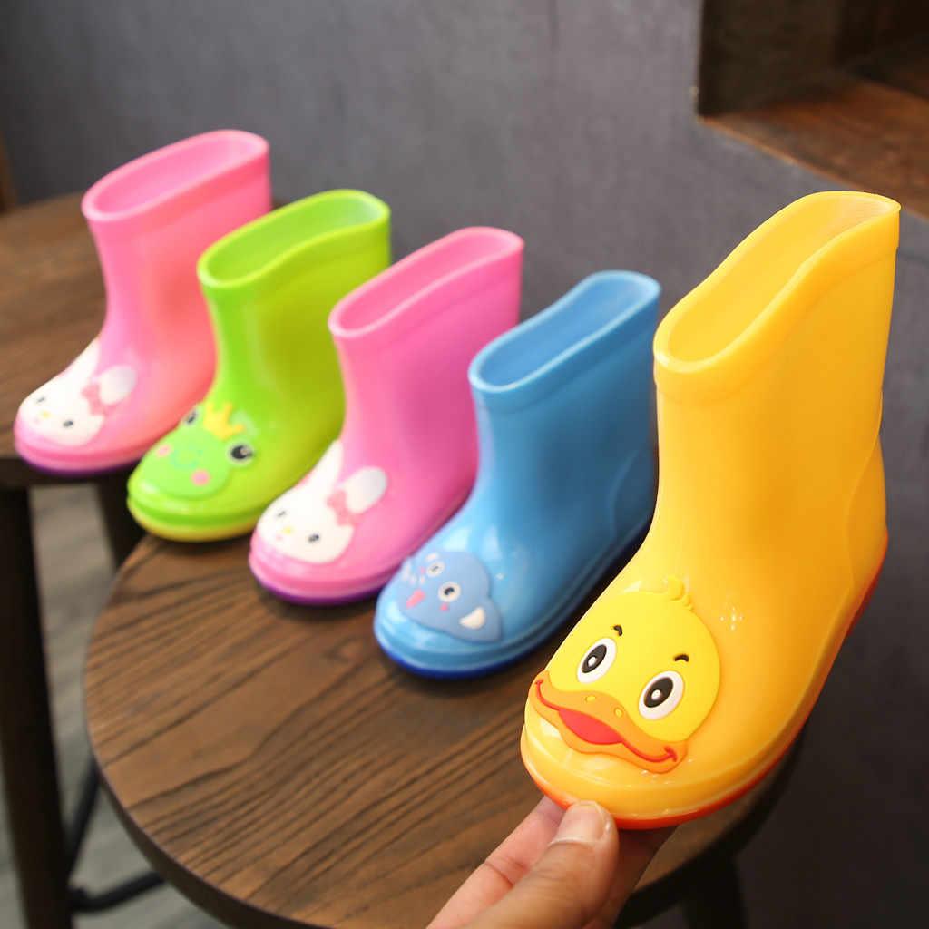 รองเท้าเด็กใหม่แฟชั่นเด็กรองเท้ายาง PVC เด็กทารกการ์ตูนรองเท้าเด็กรองเท้ากันน้ำฝนรองเท้า