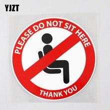 Yjzt 12.9cm × 12.9cm por favor não se sentar aqui aviso social distancing etiqueta do carro pvc 12c-0432