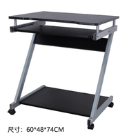 Simple Computer Desktop Table Home Rental Room Bedroom Movable Single Bed Side Bedroom Computer Table Single Small|  -