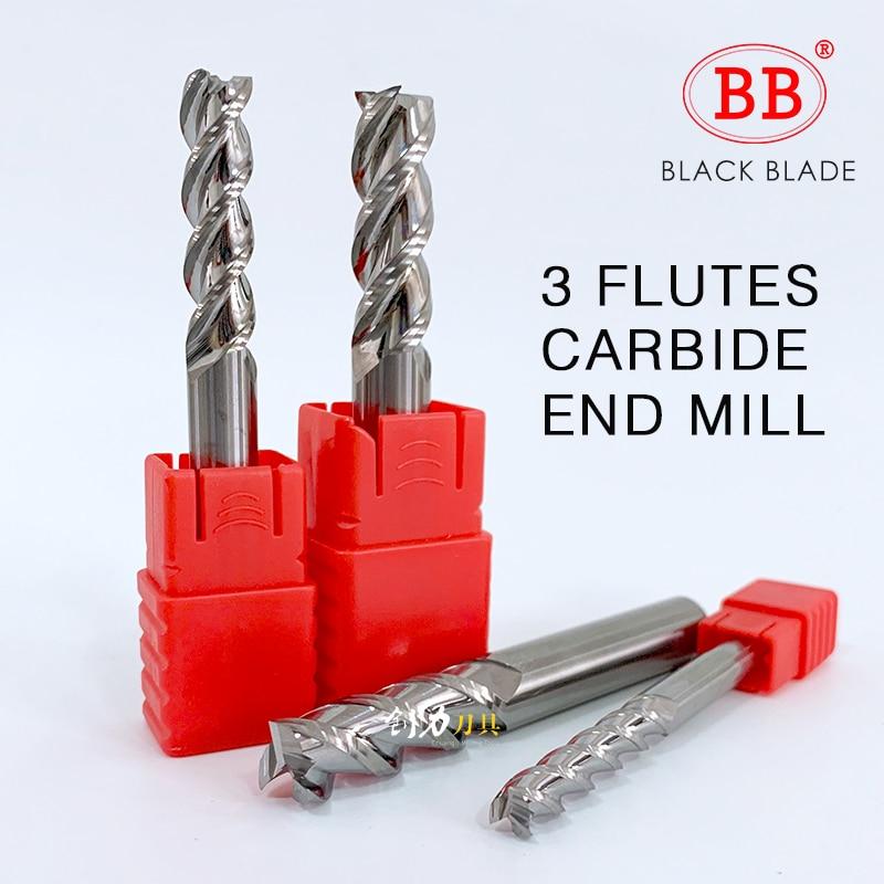 10PCS Ø 3.5mm HRC45 3 flutes Carbide End Mills milling cutter CNC for aluminum