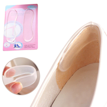 цены 1 Pair Silicone Transparent Insole Pad Foot Shoes Gel Stickers Invisible Insoles High Heel Cushion Pads  Invisible Shoe Sticker
