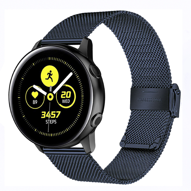 20mm 22mm metal Band for Samsung Galaxy watch 3/46mm/42mm/active 2/Gear S3 bracelet Huawei watch GT 2 2e Pro strap 2