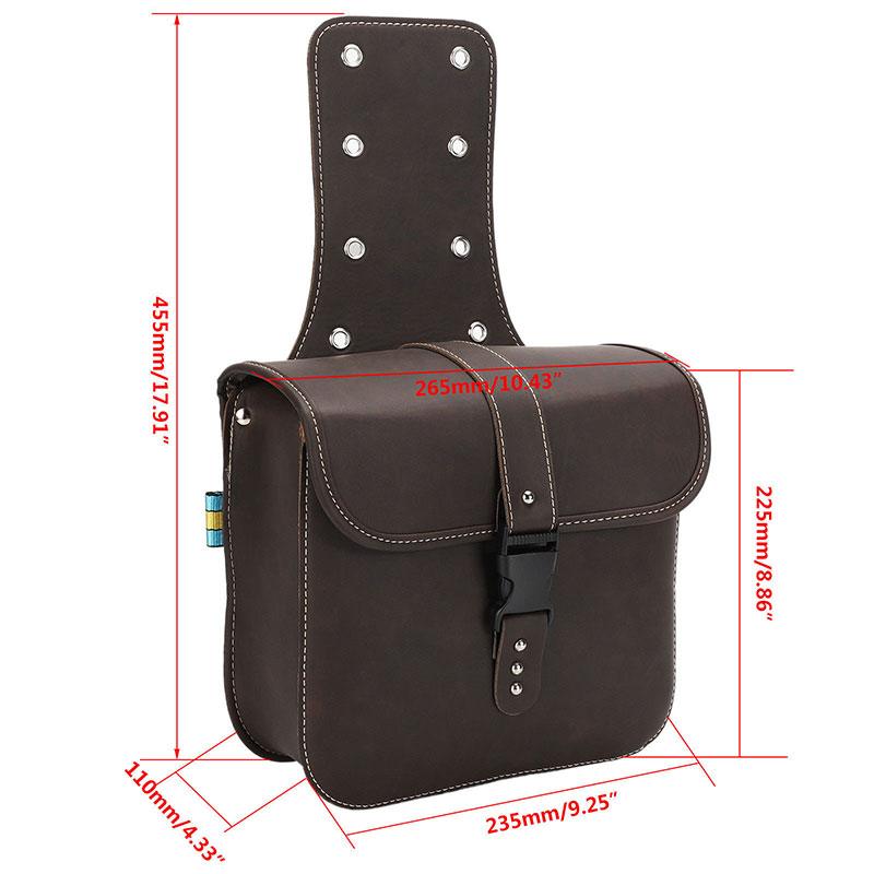 Pair Universal Waterproof Motorcycle Saddle Bags Side Storage Luggage Bag Fork Tool Pouch For Honda Sportster XL 883 XL 1200