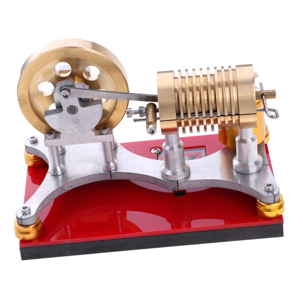 Modèle de moteur d'agitling d'acier inoxydable, jouet de modèle d'éducation de chaleur de vapeur de moteur d'agitling de basse température