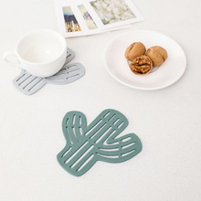 Placemat for Dining Table Stand Mug Hot Coaster Silicone Mat Cup Pad Slip Cup Mat Pad Hot Drink Holder New Cactus Pattern dining table placemat tea coaster cute zodiac pattern melamine insulation placemat coaster cup bowl coffee pad tableware pad hot